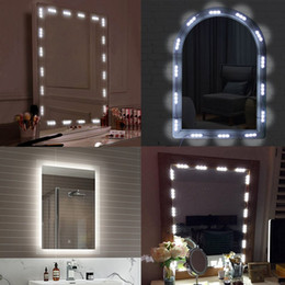 Discount lighted vanity mirrors makeup 2018 lighted vanity led modules makeup mirror light 10ft 60led mirror with remote and dimmer switch vanity light kitdiy cosmetic hollywood make up mirror lighted vanity aloadofball Images