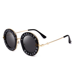Branding products online shopping - Trending products Bee designer brand luxury women sunglasses pink fashion round letter pattern vintage black retro sunglasses women