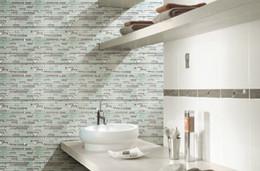 Mosaic Bathroom Designs Canada - Crystal metal mosaic tiles wall mounted mesh pattern wall texture glass mosaic tiles unique design decorative tiles bathroom tiles