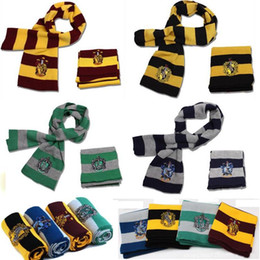 Discount army badges - Fashion College Warm Scarf Harry Potter Gryffindor Series Scarf With Badge Halloween Cosplay Costumes Autumn Winter Scar
