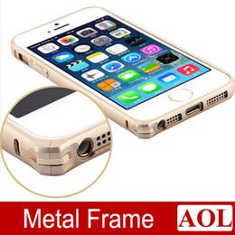 $enCountryForm.capitalKeyWord Canada - Circle Arc No Screw Metal Button Aluminum Bumper Case Cover for iPhone 6   6 plus 5s Metal Frame + Free Screen Protector