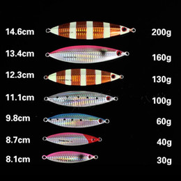 jigging lures saltwater NZ - 30g-200g Dyna Jigging Slow 130gr Fishing Flutter Jig Lure of Fishing Tackle Metal Fishing Baits Hard Lead Lure for Saltwater