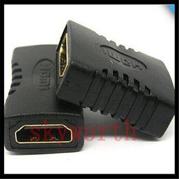 HDMI HDMI Adaptörü Kadın Siyah Çoğaltıcı F / F Genişletici Adaptörü Bağlayıcı Marangozluk 1.4 1080 p