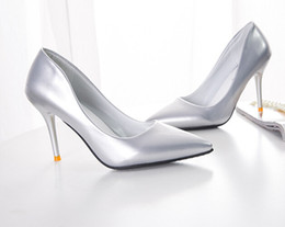 Painted Shoes Women Canada - Sexy high heeled shoes Mrs shoes Coat of paint Ultra high with Stiletto heels pointed Women's shoes bride wedding shoe 34-39