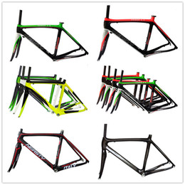 Glossy White Paint Canada - DH-RB10 full carbon fiber blue green white red color painted road bike frame bicycle parts bright many multi color painted bicycle frame