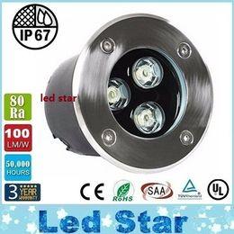 Wholesale RGB 9W Led underground Light 12V 3*3W Led Outdoor Ingroud Lamp 600LM Waterproof IP67 Warranty 3 Years