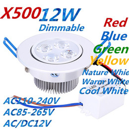 $enCountryForm.capitalKeyWord Australia - X500 Downlights 9W 12W 15W AC85V-265V LED Ceiling Downlight Recessed LED Wall lamp Spot light With LED Driver For Home Lighting