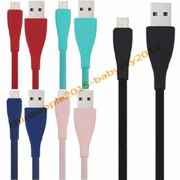 Cloth braided online shopping - Fabric Braided Cloth nylon micro type c usb data charger cable m ft A Quick charging cables for samsung s6 s7 s8 htc android phone