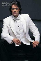 $enCountryForm.capitalKeyWord Canada - Brand New Groom Tuxedos White Two Buttons Best Man Groomsmen Men Wedding Suits Prom Form Bridegroom (Jacket+Pants+Bow Tie+Vest)J34