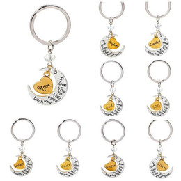 Ring Slides Australia - Free Ship NEW I love you to the moon and back keychain Key Ring Set 10 Style HOT