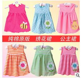 Pinafore Dresses NZ - 10pcs lot Baby Girl Dress Girl sundress jumper skirt Girl pinafore baby dress Dresses Girls One-piece cotton dress