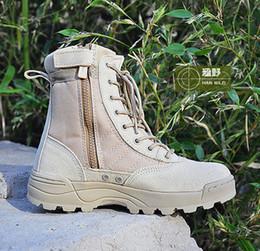 swat shoes 2019 - Swat Men's Tactical Boots Zipper Design Desert Boots For Military Enthusiasts Marine Male Combat Shoes