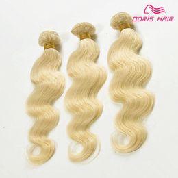 Platinum Hair 16 Inch Australia - Brazilian 613 Human Hair Bundles Straight body wave 100%Unprocessed Virgin Hair 3 Bundles Honey Platinum Hair Extension