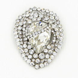 China Vintage Stylish Huge Waterdrop Crystal Luxury Brooch Delicate Wedding Broach Pin Sparkling Diamante Jewelry Bouquet Pin Cheap Wholesale suppliers