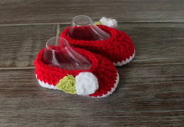 Baby Shoes Red White Canada - Spring&autumn baby fashion shoes,baby Casual shoes, red crochet knit newborn Casual Shoes for gift