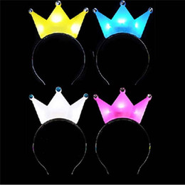 $enCountryForm.capitalKeyWord Canada - PRINCESS TIARA CROWN FLASHING LIGHT UP LED HEADBANDS HEN PARTY WEDDING HAIR ACCESSORIES Rave Party Hair Accessories Festive Supplies