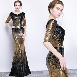 $enCountryForm.capitalKeyWord Canada - Sparkly Sexy Mermaid 2017 Evening Dresses Short Sleeves Sequined Prom Dresses Charming Stunning Formal Party Bridesmaid Gowns