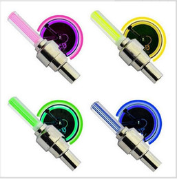 valve bike Canada - DHL New 400pcs lot 4 Color Bike Bicycle Car Wheel Tire Valve Cap Spoke Neon Flash LED Lights Lamp 1203#03
