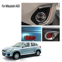 $enCountryForm.capitalKeyWord Canada - For 2013 Mitsubishi ASX ABS Chrome Front + back Fog light Lamp Cover Trim tt