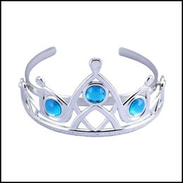 Girls frozen accessories online shopping - Prettybaby Girls Silver color Tiara baby girl colors frozen plastic hairbands kids Cinderella Hair Accessories Pt0032