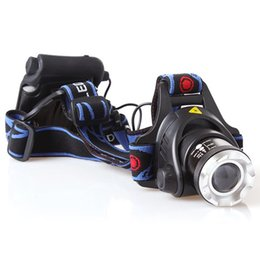 Headlamps For Hunting Zoom Canada - Zoomable Headlight CREE XML T6 2000 Lumens 3 Modes LED Headlight Zoom Focus Waterproof Head Lamp Spotlight For Hunting,Use AA