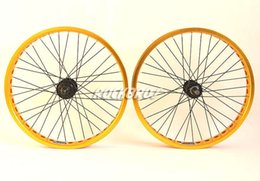 "STARS Bike Bicycle Racing Double Wall Rim BMX Wheels Wheelsets 20"" ZJS800 Golden from carbon fiber fixed gear bike wheel manufacturers"