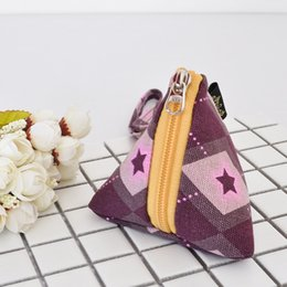 japan presents 2018 - Solid Triangular Pouch Coin Purse Dime Bag Mini Lovely Bag Accessory Pendant Creative Design Multi Christmas New Year Pr