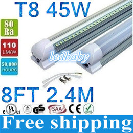 frost led tubes Australia - NEW Integrated 2.4m 8ft 45W Led T8 Tube Lights SMD2835 192Leds High Bright 4800lm Warm Cool White Frosted Transparent Cover 85-265V