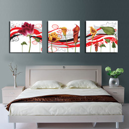 $enCountryForm.capitalKeyWord Canada - 3 Pieces no frame free shipping on Canvas Prints flower Calla Lily Chrysanthemum chinese characters Abstract black and white tree letter