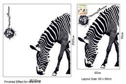 $enCountryForm.capitalKeyWord Canada - Animal Zebra Wall Art Decor Mural Removable Zebra Wallpaper Poster Sticker Living Room Book Room Wall Decoration Decal