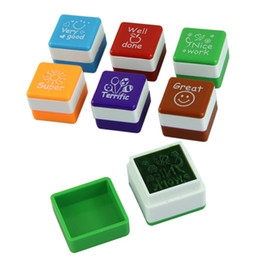 Teachers sTamps online shopping - 2015 Delicate Teachers Stampers Self Inking Praise Reward Stamps Motivation Sticker School Hot Selling