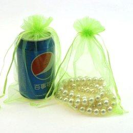 $enCountryForm.capitalKeyWord Canada - 15x20cm Light Green Organza Jewelry Bags Gift Packaging Bags Tulle Beads Tea Storage Embalagens Para Festa 100pcs lot Wholesale