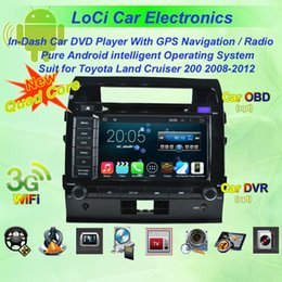 Dvd Player For Cars NZ - Car dvd Multimedia radio android player for Toyota Land Cruiser 200 2008 - 2012,autoradio CD, gps navigation,Pure android 4.4.4, Quad Core