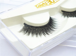 colorful false eyelashes wholesale Australia - 3D False Eyelashes Handmade Natural Long Thick Colorful 3d Eyelashes Fake Eye Lashes Extensions Flair Black Terrier Strip Eye Lashes 012#
