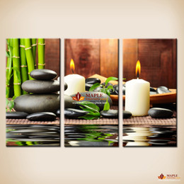 2015 New Style 3 Pieces Of Canvas Wall Paintings Print The Green Feng Shui Painting On Decoration For Living Room