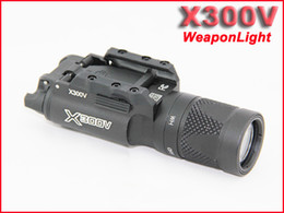 Wholesale NEW SF LED X300V Mini Picatinny WeaponLight Tactical Flashlight White and Flash