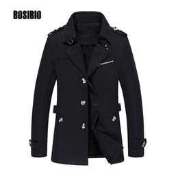 Wholesale- 2017 Men Trench Coat Spring Autumn Casual Slim it Thin Jacket Coat High Quality Male Medium Long Windbreaker Plus Size 5XL 1307