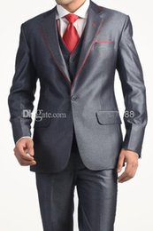 Black Suit Ivory Waistcoat Canada - Custom Made 2 Buttons Groom Tuxedos Groomsmen Peak Lapel Men Suits(Jacket+Pants+Tie+Waistcoat)G999