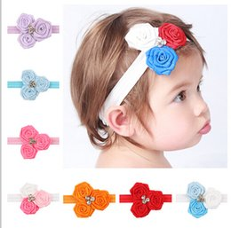 Babies Hair Wearing Headbands Canada - Three roses treasure wearing hair accessories baby hair of children in Europe and America selling band