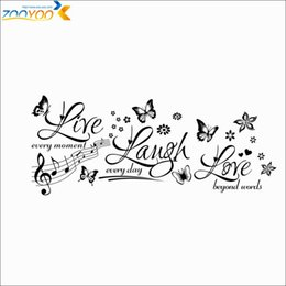 Live Laugh Love Quote Wall Stickers Home Decorations Zooyoo8285 Diy Plant  Removable Vinly Wall Decal Flower Wall Decals