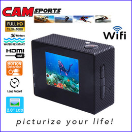 Professional Camcorder Recorder Canada - 16GB memory built-in WiFi Waterproof 30M Sports Camera 1080P Full HD 12MP Wireless Diving Mini DV Cam Camcorder Action Video Recorder DV15