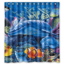 Charming Classical Design Marine Life Under The Sea Bathroom Waterproof Modern Shower  Curtain Mildewproof PEVA Bath Curtain 66x72u0027u0027