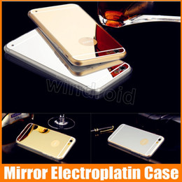 $enCountryForm.capitalKeyWord Canada - Luxury Electroplate Ultra-thin Mirror Case Rose gold Soft TPU Cover for iPhone 7 i7 6 6S plus 5S s7 Dustproof Shockproof Protective 100pcs