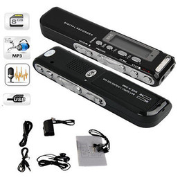 Vor Digital Voice Recorder Canada - Wholesale-New Free Shipping 8GB Digital VOR Voice Phone Recorder Dictaphone MP3 Pen For Meeting Lesson