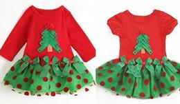 Wear baby online shopping - girl red christmas dress tutu merry christmas dress kids girls dresses children cotton tutu baby christmas wear christmas trees short sleeve