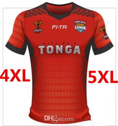Negro 5xl Baratos-TONGA RUGBY LEAGUE WORLD CUP 2017 HOME JERSEY talla S-3XL 2017 New Zealand All Black Rugby Jersey Rugby hombres euro Extra talla grande S-3XL-5XL