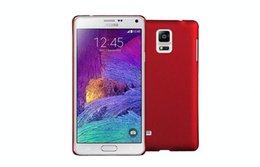 Rubberized Phone Cases NZ - Rubberized Metalic Paint PC Covers Cases For Samsung Galaxy Note4 N9100 N9106 Galaxy Note3 N900 N9002 Phone Cases Wholesales