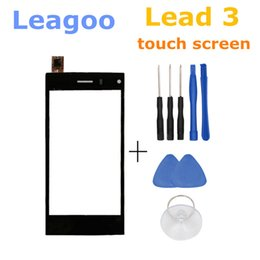 Led touch screens online shopping - Original Leagoo Lead Front Panel Touch Glass Lens Digitizer Screen for inch lead3 Phone with Tracking Number