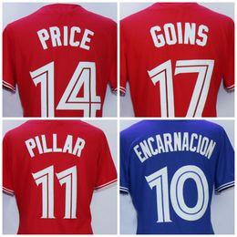 7051097e8 Youth Toronto Jerseys 20 Josh Donaldson 14 David Price 2 Troy Tulowitzki 11 Kevin  Pillar 17 Ryan Goins 19 Jose Bautista Kids Shirt