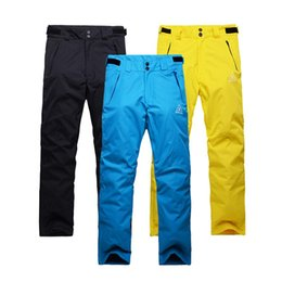 Layer Pants Canada - Wholesale- Free Shipping Outdoor Snowboarding snow Sport Windproof Waterproof Breathable Double Layer Winter Ski Snow Pants For Man skiing